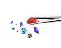 Kolekcja gemstones ilustracja 3 d Zdjęcie Stock