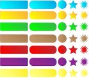 Kolekcja guziki i ikony dla miejsca Set barwiący guziki na białym tle dla projekta miejsce ilustracji