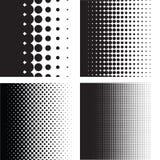 Kolekcja Halftone kropki wzoru gradienty w wektorowym formacie ilustracji