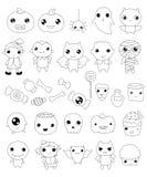 Kolekcja Halloween charaktery, Halloween konturu elementy ilustracji