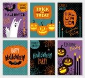 Kolekcja Halloween sztandaru szablony Obraz Royalty Free