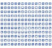Kolekcja ikona znaki i symbole, wektorowa ilustracja Obraz Stock