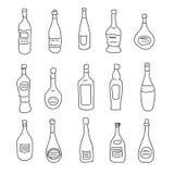 Kolekcja inaczej kształtne butelki duchy ilustracji