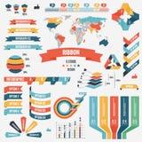 Kolekcja infograph elementów dla biznesu ludzie również zwrócić corel ilustracji wektora Infographic piktogramy Infographs elemen Obraz Royalty Free
