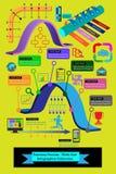 Kolekcja infographic elementy ikony i, to używa budować prezentacje na rozwoju biznesu, obieg, strategia biznesowa Obraz Stock