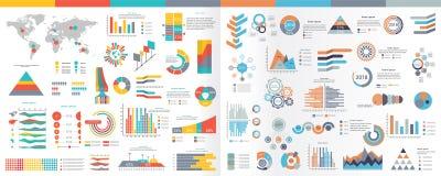 Kolekcja infographic elementy Ilustracyjni w mieszkanie stylu Zdjęcia Stock