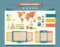 Kolekcja infographics elementy, wektor Zdjęcie Stock