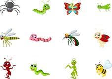 Kolekcja insekt kreskówka dla ciebie projektuje Obrazy Royalty Free