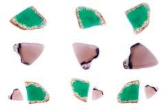 Kolekcja kamienny kopalny agat Zdjęcie Royalty Free