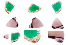 Kolekcja kamienny kopalny agat Fotografia Royalty Free