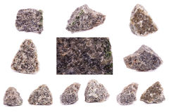 Kolekcja kamienny kopalny Olivine zdjęcie royalty free
