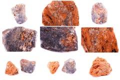 Kolekcja kamienny kopalny sphalerite Zdjęcia Stock