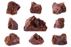Kolekcja kamienny kopalny syderyt fotografia royalty free