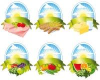 Kolekcja karmowe etykietki Obrazy Royalty Free