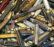 Kolekcja Kieszeniowi noże Obrazy Stock