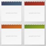 Kolekcja 4 kolorów papierowa notatka. Fotografia Royalty Free