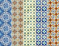 Kolekcja kolorowe wzór płytki Obraz Royalty Free