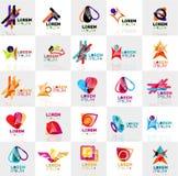 Kolekcja kolorowi abstrakcjonistyczni origami logowie ilustracja wektor