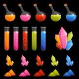 Kolekcja kolorowi alchemia elementy dla dzieciaków Zdjęcia Stock