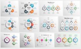 Kolekcja kolorowy infographic może używać dla obieg układu, diagram, numerowe opcje, sieć projekt ilustracja wektor