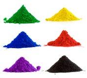 Kolekcja kolorowy proszek Obrazy Stock