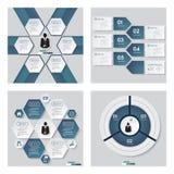 Kolekcja 4 koloru szablon, grafika lub strona internetowa układu błękitnych/ Wektorowy tło royalty ilustracja