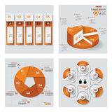Kolekcja 4 koloru szablon, grafika lub strona internetowa układu pomarańczowych/ Wektorowy tło Zdjęcia Stock