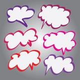 Kolekcja komiczka styl Gulgocze w Wektorowym formacie Kolor może zmieniający jeden stuknięciem Obraz Stock