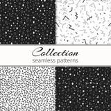 Kolekcja kontrastować czarny i biały tła ilustracja wektor
