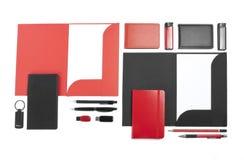 Kolekcja korporacyjna tożsamość na białym tle Fotografia Stock