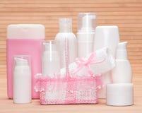 Kolekcja kosmetyczni produkty dla skincare Fotografia Stock