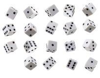Kolekcja Koziołkujący kostka do gry Obraz Stock