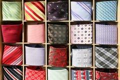 kolekcja krawaty zdjęcia stock