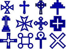 kolekcja krzyż Fotografia Royalty Free
