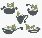 Kolekcja kulinarny wyposażenie s i żywność organiczna Obraz Royalty Free
