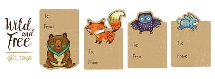 Kolekcja lasu prezenta etykietki Obrazy Royalty Free
