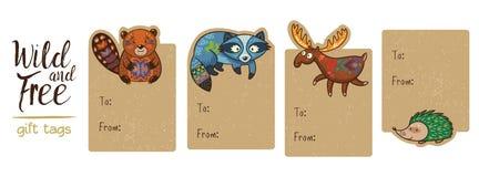Kolekcja lasu prezenta etykietki Obraz Stock