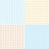 Kolekcja lekcy mozaiki płytki bezszwowi wzory Zdjęcia Stock