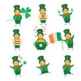 Kolekcja Leprechaun dla świętego Patricks projekta Zdjęcie Stock