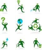 Kolekcja logów abstrakcjonistyczni ludzie - 6 Obraz Royalty Free