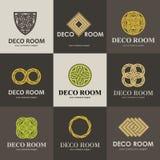 Kolekcja logowie dla wnętrza Obrazy Stock