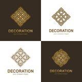 Kolekcja logowie dla wnętrza, mebli sklepów, wystrój rzeczy i domowej dekoraci, Zdjęcia Royalty Free