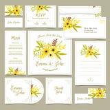 Kolekcja ślubni zaproszenia Fotografia Royalty Free