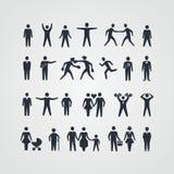 Kolekcja ludzie sylwetek ilustracji