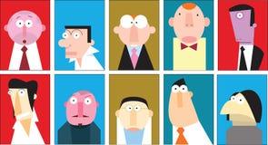 Kolekcja mężczyzna portrety Fotografia Stock