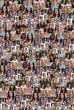 Kolekcja młodzi ludzie tło kolażu ampuły grupy Obrazy Stock