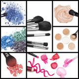 Kolekcja makeup kosmetyki Zdjęcie Stock