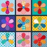 Kolekcja materialni kwiaty Obrazy Stock