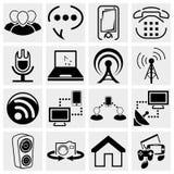 Medialne i komunikacyjne ikony ilustracja wektor