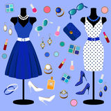Kolekcja moda odziewa Fotografia Royalty Free
